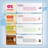 Saubere Zahlfahne des modernen Designs mit dem erfolgreichen Geschäftskonzept verwendet für Websiteplan Infographic Stockfotografie
