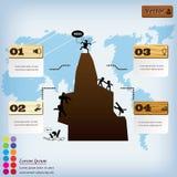 Saubere Zahlfahne des modernen Designs mit dem erfolgreichen Geschäftskonzept verwendet für Websiteplan Infographic Lizenzfreie Stockbilder