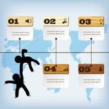 Saubere Zahlfahne des modernen Designs mit dem erfolgreichen Geschäftskonzept verwendet für Websiteplan Infographic Stockbild