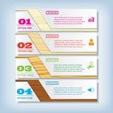 Saubere Zahlfahne des modernen Designs mit dem erfolgreichen Geschäftskonzept verwendet für Websiteplan Infographic Lizenzfreie Stockfotos