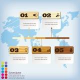 Saubere Zahlfahne des modernen Designs mit dem erfolgreichen Geschäftskonzept verwendet für Websiteplan Infographic Lizenzfreies Stockbild