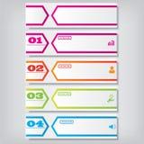 Saubere Zahlfahne des modernen Designs mit dem Geschäftskonzept verwendet für Websiteplan Infographic Lizenzfreies Stockbild