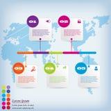 Saubere Zahlfahne des modernen Designs mit dem Geschäftskonzept verwendet für Websiteplan Infographic Stockbilder