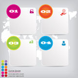 Saubere Zahlfahne des modernen Designs mit dem Geschäftskonzept verwendet für Websiteplan Infographic Lizenzfreie Stockfotografie