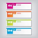 Saubere Zahlfahne des modernen Designs mit dem Geschäftskonzept verwendet für Websiteplan Infographic Stockbild