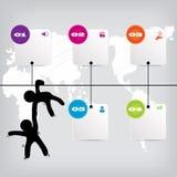 Saubere Zahlfahne des modernen Designs mit dem Geschäftskonzept verwendet für Websiteplan Infographic Lizenzfreie Stockfotos