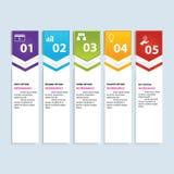 Saubere Zahlfahne des modernen Designs mit dem Geschäftskonzept verwendet für Websiteplan Infographic Stockfoto