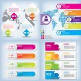 Saubere Zahlfahne des modernen Designs mit dem Geschäftskonzept verwendet für Websiteplan Infographic Stockfotos