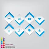 Saubere Zahlfahnen des modernen Designs benutzt für Websiteplan Stockbilder