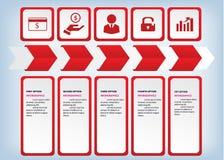 Saubere Zahlfahnen des modernen Designs benutzt für Websiteplan Infographic Lizenzfreie Stockfotografie