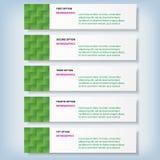 Saubere Zahlfahnen des modernen Designs benutzt für Websiteplan Infographic Stockfotografie