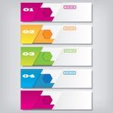 Saubere Zahlfahnen des modernen Designs mit dem Geschäftskonzept verwendet für Websiteplan Infographics Lizenzfreie Stockfotos