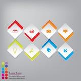 Saubere Zahlfahnen des modernen Designs mit dem Geschäftskonzept verwendet für Websiteplan oder Websitedesign Stockfoto