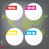 Saubere Zahlfahnen des modernen Designs mit dem Geschäftskonzept verwendet für Websiteplan oder Websitedesign Stockfotos