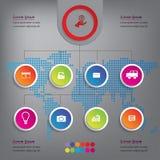 Saubere Zahlfahnen des modernen Designs mit dem Geschäftskonzept verwendet für Websiteplan oder Websitedesign Stockbild