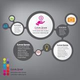 Saubere Zahlfahnen des modernen Designs mit dem Geschäftskonzept verwendet für Websiteplan oder Websitedesign Lizenzfreies Stockbild