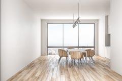 Sauberer Kücheninnenraum mit Tageslicht lizenzfreie abbildung