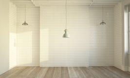 sauberer minimaler leerer Raum stockfoto