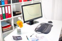 Sauberer Schreibtisch Stockbild