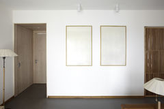 Sauberer und eleganter Hauptinnenraum Stockbild