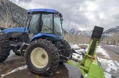 Saubererer Traktor des Schnees stockbild
