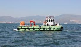 Saubereres Schiffsreinigungswasser stockbild