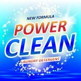 Sauberes Seifendesignprodukt Verpackungsgestaltung für Waschmittel oder Waschpulver Auch im corel abgehobenen Betrag vektor abbildung