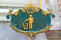 Sauberes Zeichen des Unterhaltes Stockbilder