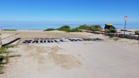 Sauble海滩标志阴影 免版税库存图片
