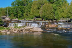 Sauble Falls in South Bruce Peninsula, Ontario Royalty Free Stock Image