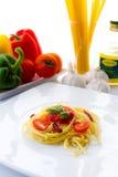 Sauce à boeuf de tomate de pâtes Photographie stock