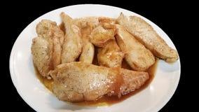 Sauce à bonbon à blanc de poulet Image libre de droits