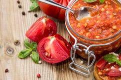 Sauce à Bruschetta (dans une glace) Photographie stock libre de droits