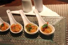 Sauce à fruits de mer coupée en tranches par saumons d'ââwith Image stock