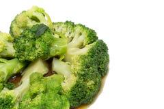 Sauce à huître frite par brocoli Photo stock