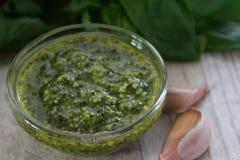 Sauce à Pesto photographie stock libre de droits