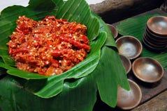 Sauce à piments traditionnelle Photographie stock libre de droits