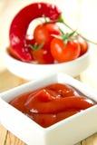Sauce à /poivron d'un rouge ardent Image libre de droits