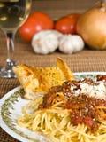 Sauce à spaghetti et à viande Photographie stock libre de droits