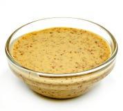 Sauce в стеклянной таре на белой предпосылке Стоковое фото RF