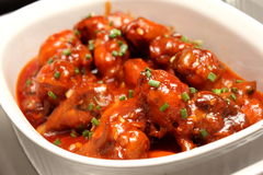 Sauce BBQ Chicken Wings Royalty Free Stock Photos