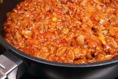 Sauce bolonaise Image libre de droits