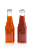 Sauce bottle. Isolated on white Stock Images