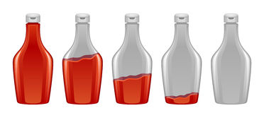 Sauce in bottle. On a white background vector illustration