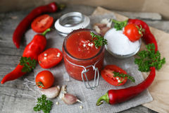 Sauce chaude photos stock