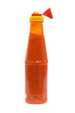 Sauce of chile. Piquant sauce of chile on a white background Royalty Free Stock Photography