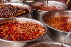Sauce chili photo libre de droits