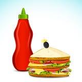 Sauce et sandwich illustration libre de droits