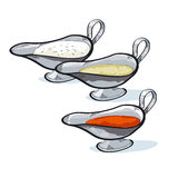 Sauce in a gravy boat to choose. Stock Image
