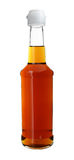 Sauce in Long Neck Glass Bottle isolated on white background Stock Image